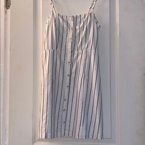 Pinstripe Button-up Dress